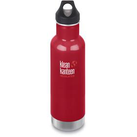 Klean Kanteen Classic Vacuum Insulated Drinkfles Loop Cap 592ml, rood